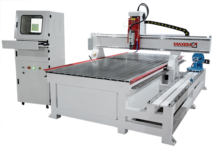 EM1325MT CNC Router with rotary device